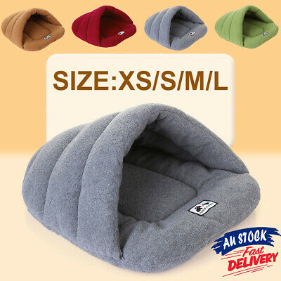 Pet Dog Cave Pad Sleeping Bag Bed Mat Warm Puppy Nest House Soft Cat