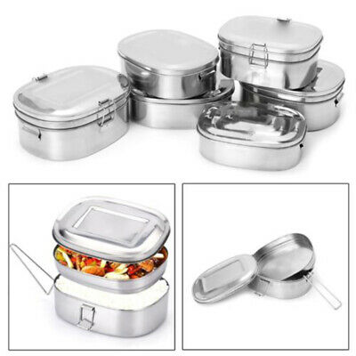 d4aebf27e334 QUALITY STAINLESS STEEL Lunch Box with Fork and Spoon Set (2 ...