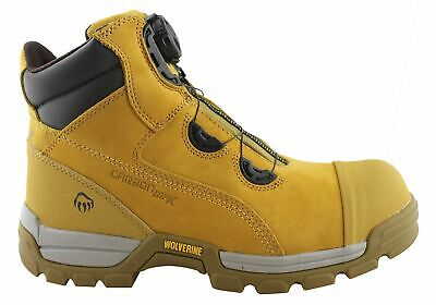 "New Wolverine Tarmac Boa 6"" Mens Steel Toe Safety Boots"