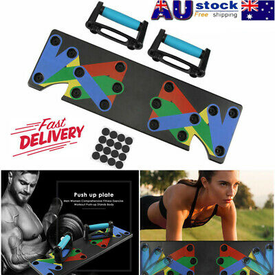Push Up Stand Bar Bicep Muscle Training Board Power Press Handle Fitness Gym AU