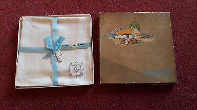 "Vintage Box ""Irish Cabin"" Pure Irish Linen Handkerchiefs"