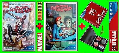 Amazing Spider-Man 705 + 1/710 Game Variant Camagni + 4 Spille Ps4 Panini Marvel