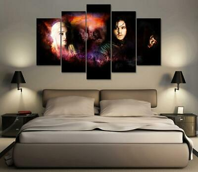 Game of Thrones Daenerys Targaryen Jon Snow Ned Stark 5 Piece Canvas Wall Art