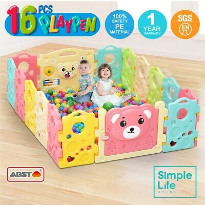 16PCS Baby Playpen Sided Panel Interactive Toddler Safe Door Room Kids Play Toy