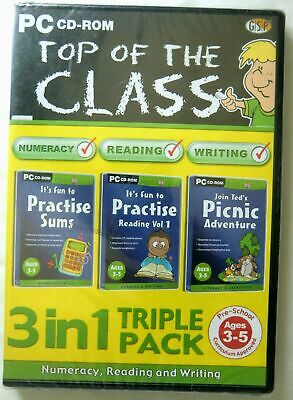 64549 - Top Of The Class 3 In 1 Triple Pack [NEW & SEALED] - PC (2002) Windo