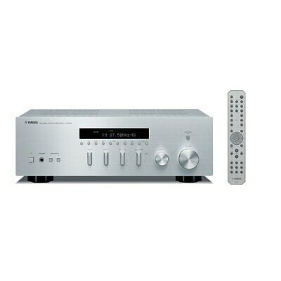 YAMAHA R-S300 Stereo Receiver / Empfänger, Silver, with remote control