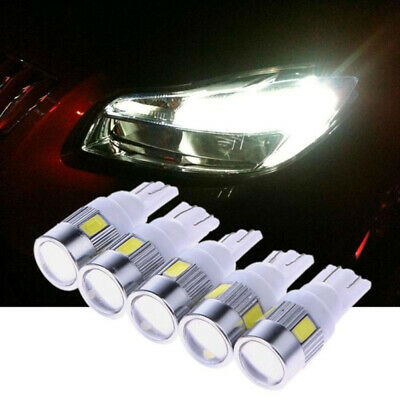 2PCS Car T10 W5W Side Light Lamp Marker Lamp Lens 5630 6 SMD LED Light Bulb FYA