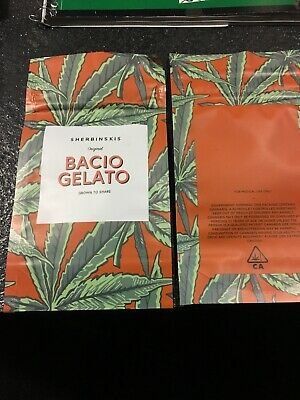 Bacio Gelato Mylar Bag Cali Packs X 100 Plus 20 Free Cookies Bags