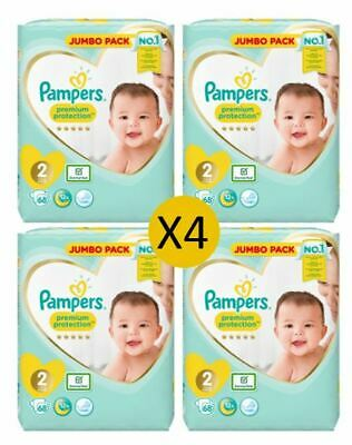 Pampers Premium Protection Size 2 Nappies, 68 nappies (4 x 68)