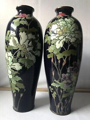 A Pair Of 19th Century Japanese Cloisonne Vases