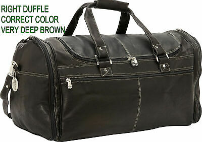 David King Premier Extra Large Multi Pocket Leather Duffle Bag -Café - DK8305