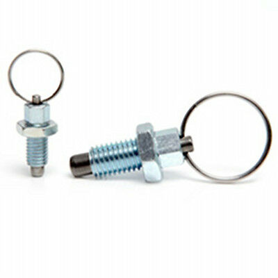 M10 index plunger with ring pull spring loaded retractable locking pin