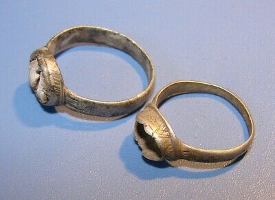 Ancient  SILVER  rings  Middle Ages. Оriginal.