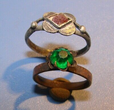 Ancient  SILVER, ALLOY  rings  Middle Ages. Оriginal.