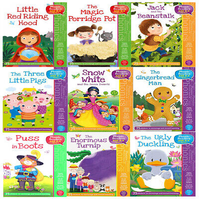 Phonic Readers Collection 9 Books Age 4-6 Level 1-The Gingerbread Man Paperback