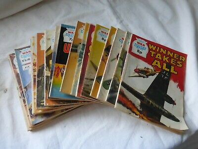 Job Lot of Eighteen War Picture Library Comic Books. All Good Condition.
