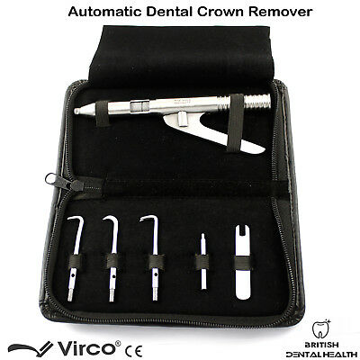 Automatic Dental Crown Remover Gun Type With Five Attachments Crowns Removal Set