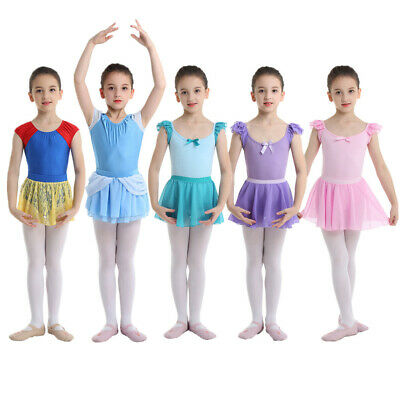 Child Girls Princess Ballet Dance Costume Kid Gymnastics Skate Leotard Dancewear