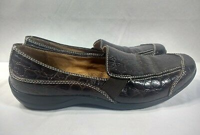 55dd7e43a98 NATURAL SOUL CARRYON Black Leather Women s Loafers Slip On Office ...