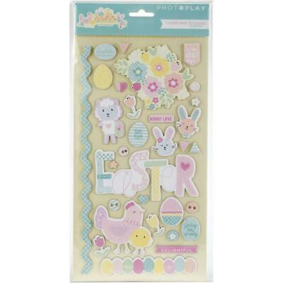 PhotoPlay 'EASTER BLESSINGS' Chipboard Stickers 30pcs Bunny/Eggs