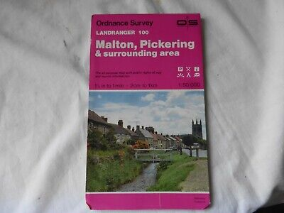 OS Landranger Map 100 - . Malton, Pickering and Area -  Good Condition.