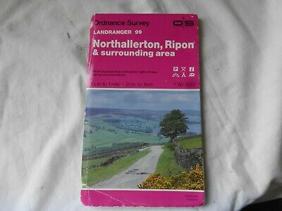 OS Landranger Map 99 - . Northallerton, Ripon and Area -  Good Condition.