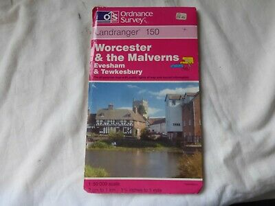 OS Landranger Map 150 - Worcester, The Malverns and Area -  Good Condition.