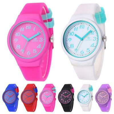 Fashion Women Girls Silicone Strap Casual Watch Quartz Analog Wrist Watches Gift