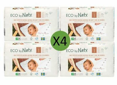 Naty Nappies Eco Disposable Size 1 Newborn  - 25 Pack (4 x 25)