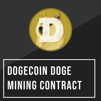 110 Dogecoin DOGE mining contract sent to your address cryptocurrency blockchain