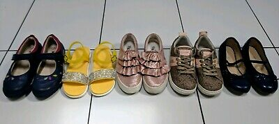UK Child 9, 10 & 11 Sandles Trainers Party Shoes Bundle John Lewis Clarks M&S