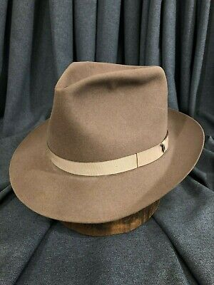 12035f5cbc4c2 Classic Stetson Size 7-7 1 8 Camel Fedora Vintage Hat with New Sweatband