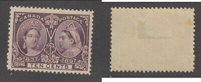 Mint Canada 10 Cent Queen Victoria Diamond Jubilee Stamp #57 (Lot #15031)