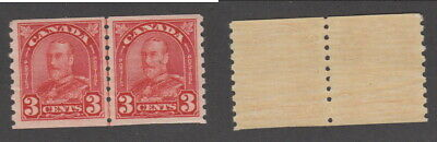 Mint Canada 3 Cent KGV Coil Line Pair #183i (Lot #15223)