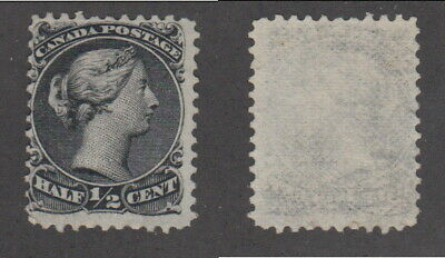 Mint Canada 1/2 Cent QV Large Queen Stamp on Thin Paper #21c (Lot #14974)