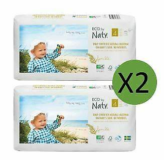 Naty Size 4 Nappies Eco Pack (2 x 44)