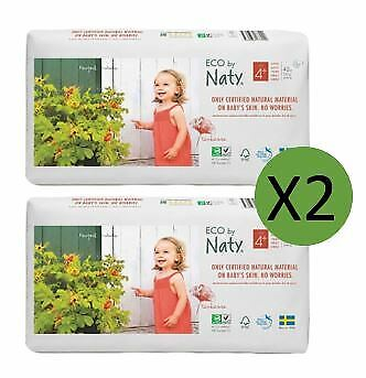 Naty Size 4 Plus Nappies Eco Pack (2 x 84)
