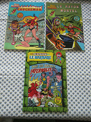 lot 3 ARTIMA COLOR MARVEL N 2 N.3 N.7 miss marvel rayon de la mort.cauchemar.