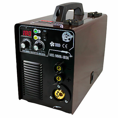 Mig Mag / Mma 180 Igbt Welding Power Supply 230v Inverter Machine with Accessory