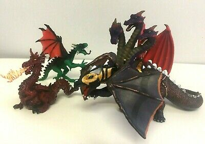PAPO Dragons Job Lot Toys Action Figures War Dragon Fire Breathing Fantasy x4