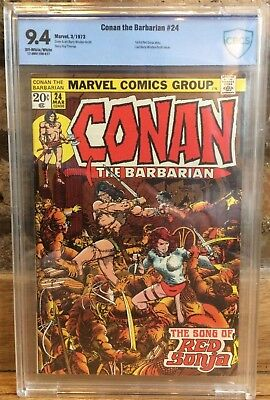 Conan The Barbarian #24 1st Appearance of Red Sonja CBCS 9.4 1973