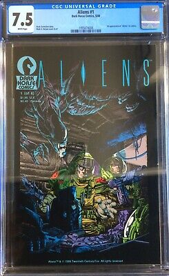Aliens #1 1st Printing CGC 7.5 Dark Horse Comics Movie 1st Appearance In Comics
