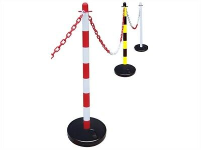 Plastic Chain, Plastic Post, Rubber Base Sets = 25M Chain + 10 Posts & Bases