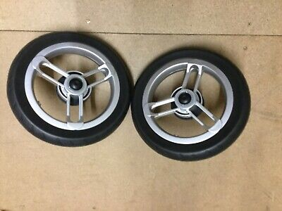 Oyster Max Spare Replacement Pair of Rear Wheels Pushchair Pram Brand New