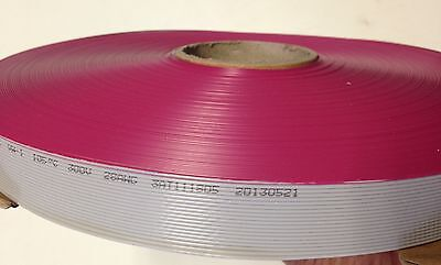 Flat Cable 20 Pin 20 Wires IDC Ribbon 2651 Roll 250 Ft. Long 25mm Wide