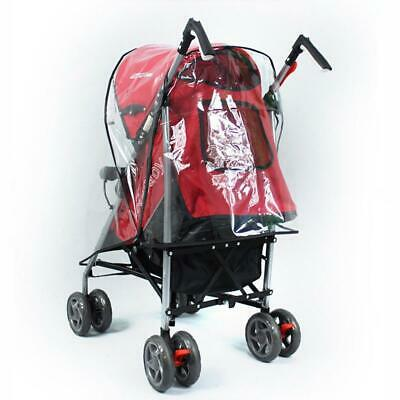 Pop Universal Baby Clear Rain Cover Buggy Pushchair Stroller Pram Transparent &