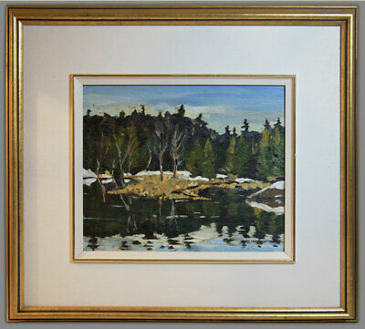 David Hodgetts Listed oil Lochenbach Pond Rob Roy Ontario Winter Canadian School