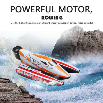Rechargeable RC 2.4G Racing Boat Mini Electric Speedboat Rechargeable Summer