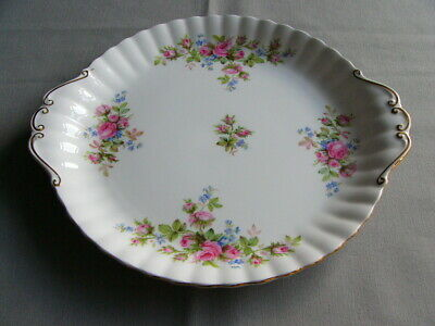 First Quality Royal Albert Moss Rose Eared Cake Plate
