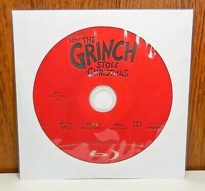 Dr. Seuss' How the Grinch Stole Christmas - Disc Only (Blu Ray, 2000) Widescreen